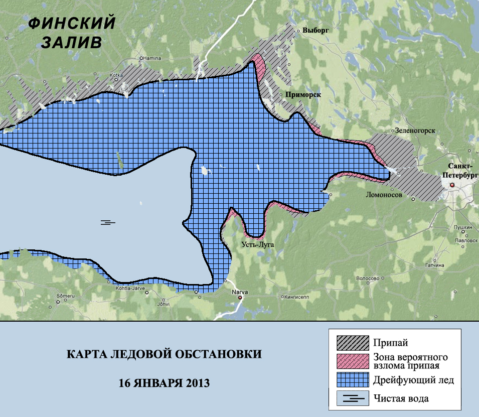 карта финского залива для рыбаков