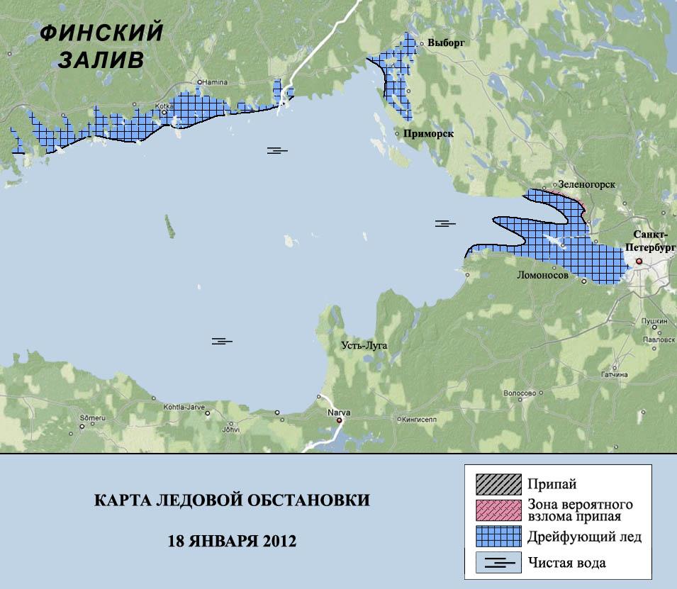 Финский залив на карте россии